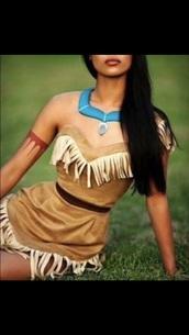 dress,Pocahontas,halloween,costume