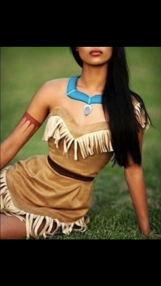 dress pocahontas halloween costume