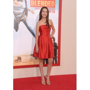 Emma fuhrmann red strapless party dress 'blended' los angeles premiere