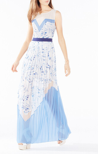 dress long dress maxi dress wedding blue dress bcbg wedding clothes