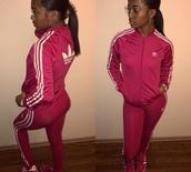 pants,adidas,pink,adidas jacket,adidas leggings logo,pink adidas jacket & pants