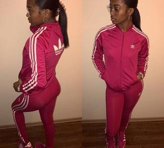 pants adidas pink adidas jacket adidas leggings logo pink adidas jacket & pants