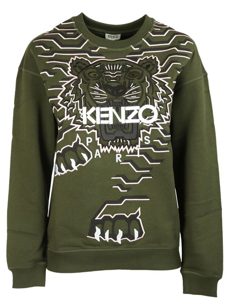 sweatshirt embroidered tiger sweater
