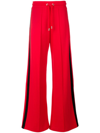 women cotton red pants