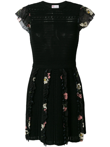 dress women floral cotton black