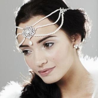 hair accessory pearl headpiece