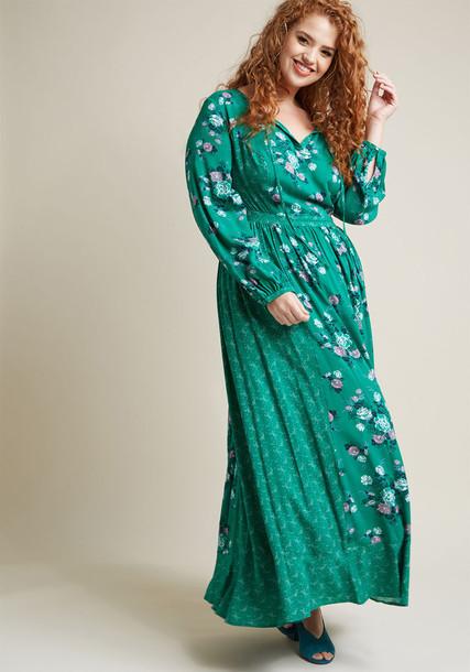 Modcloth dress maxi dress maxi long green