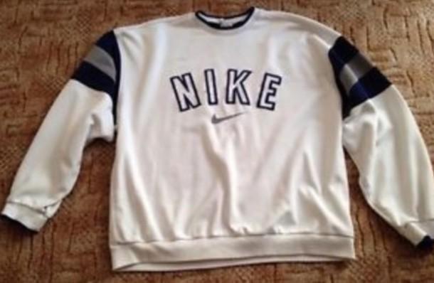 sweater nike crewneck nikecrewneck white