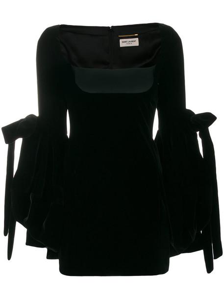Saint Laurent dress oversized women black silk