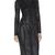 Black Formal Dress - Bqueen  PU Zipper Long Sleeve   UsTrendy