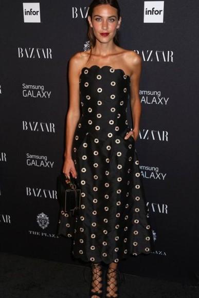 dress alexa chung fashion week 2014