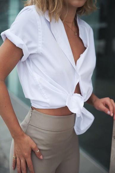 blouse tan dress pants classy
