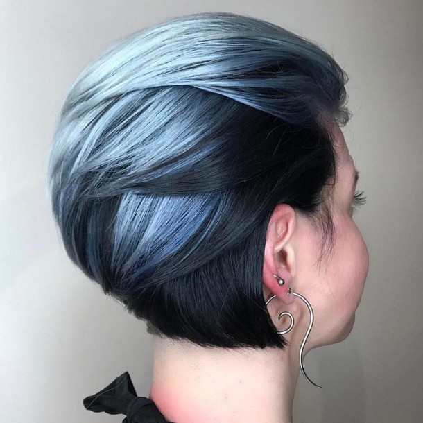 Short blue hair tumblr