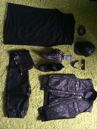 jacket black dope fashion boy menswear swagg