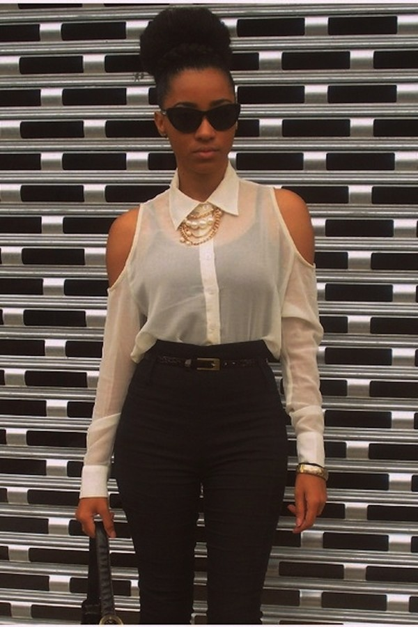 blouse sheer blouse high waisted jeans
