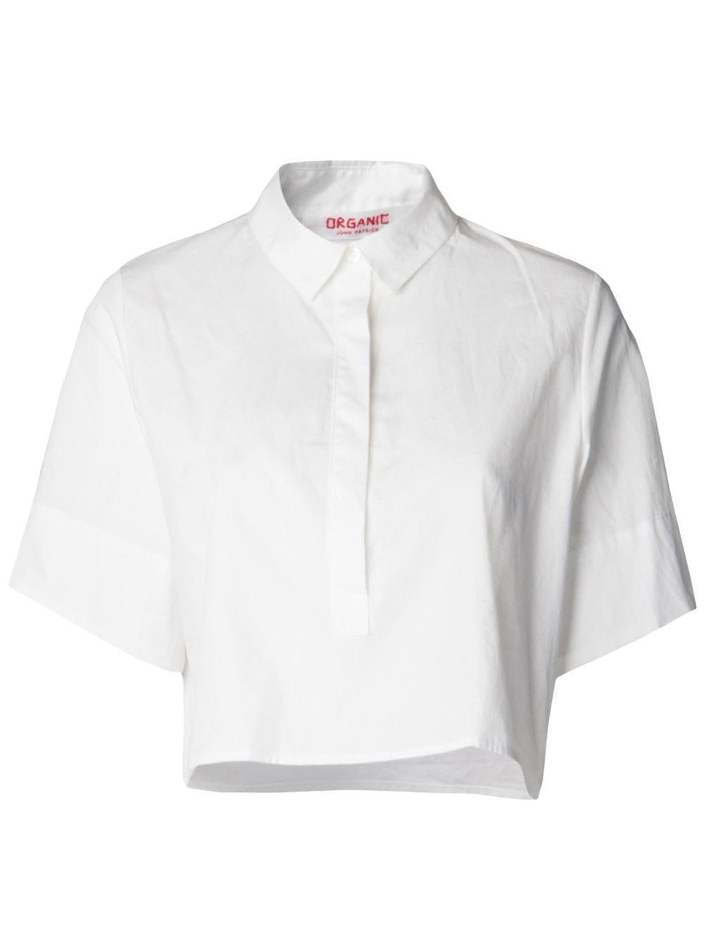 Organic By John Patrick Cropped Button Down Shirt - Mario's - Farfetch.com