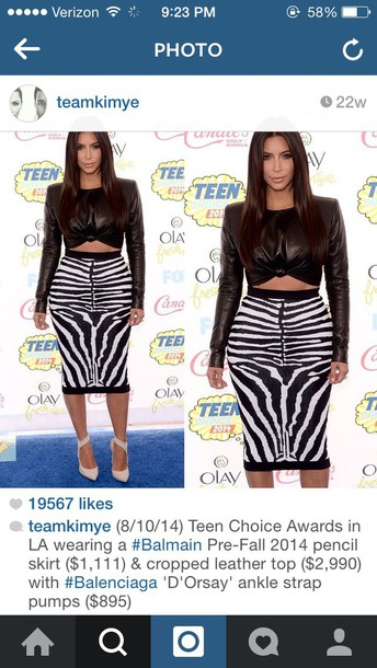 skirt kim kardashian top