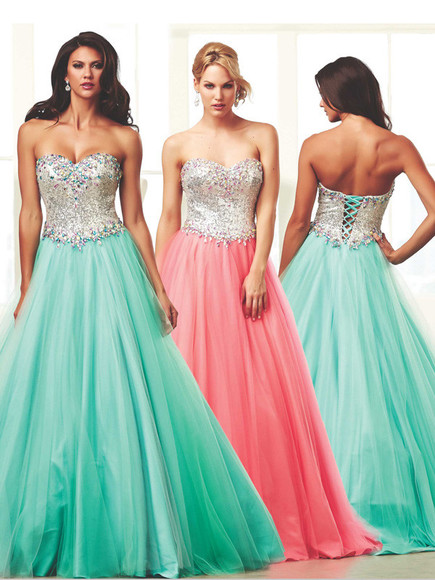 pink dress blue prom dresses ball gown dresses long prom dresses