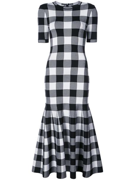 oscar de la renta dress women black wool