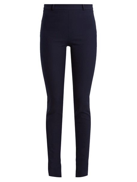 Roland Mouret cotton navy pants