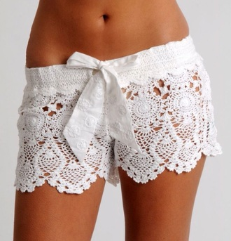 shorts crochet shorts
