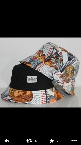 hat bucket hat bucket cap cap cards cute menswear mens accessories unisex accessories printed bucket hat