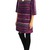 Bgo & me: Vestido en jacquard de lana burgundy/oro