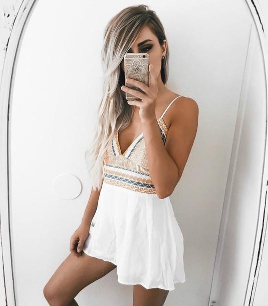 dress mini dress summer dress white dress