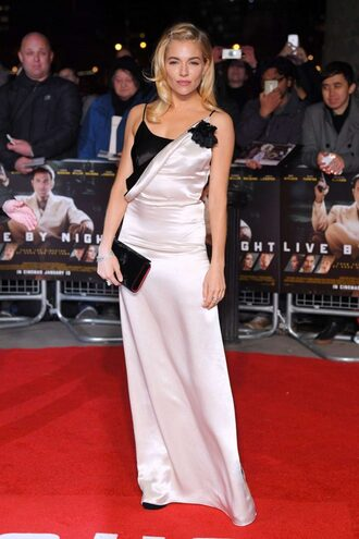 dress gown red carpet dress sienna miller