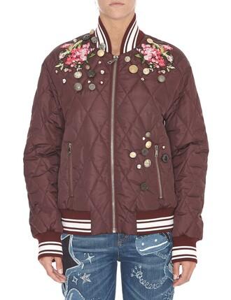 jacket bomber jacket purple brown