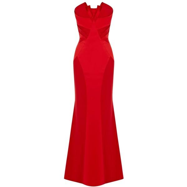 Buy coast roxie bandeau dress, red