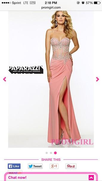 dress pink prom girl