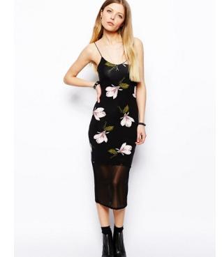Flower print black long slip dress · fashion struck · online store powered by storenvy