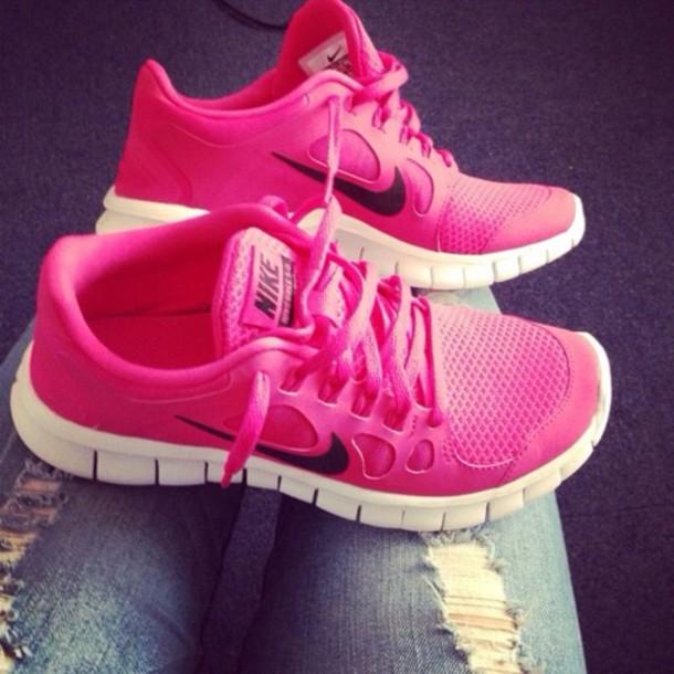 shoes nike free run pink