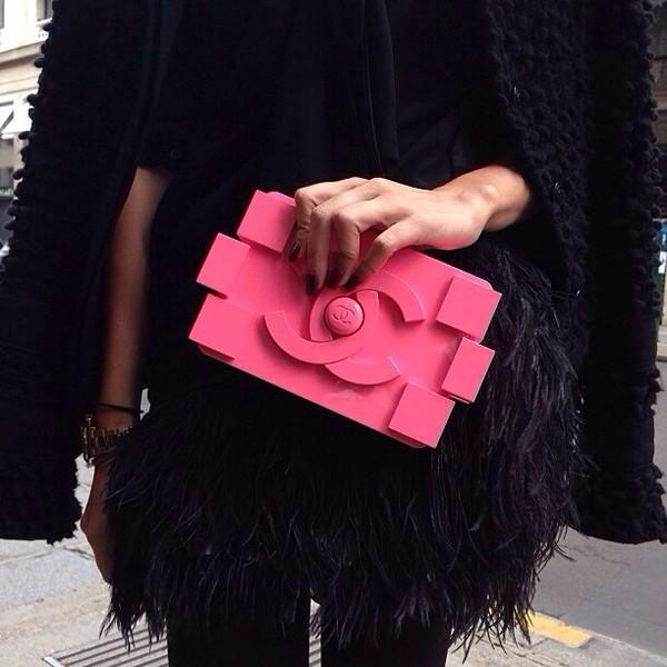 bag pink chanel chanel bag