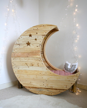 jewels,tumblr,bedding,chair,wood,pink,white,fire lights,stars,edgy,home decor,kids fashion,girly wishlist,holiday home decor,moon,dreamer,heaven,quiet,home accessory,kids room