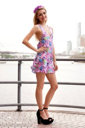 dress,romper,floral,cute,pink,flowers,shopfashionavenue,floral romper