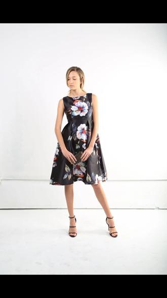 dress floral dress midi dress