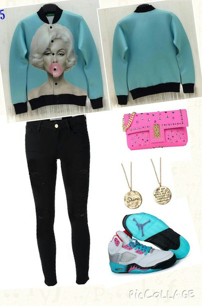 jacket marylin monroe cute jacket monroe bubblegum