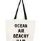Ocean air beachy hair crystal tote