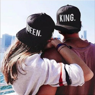 hat fashion couple snapback matching couples clothes urban love hair accessory