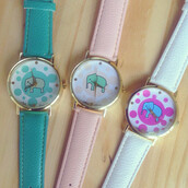 jewels,watch,elephant,cute,bubbles,funny,love,pink,teal,white,purple