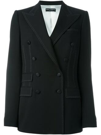 blazer double breasted women spandex black silk wool jacket