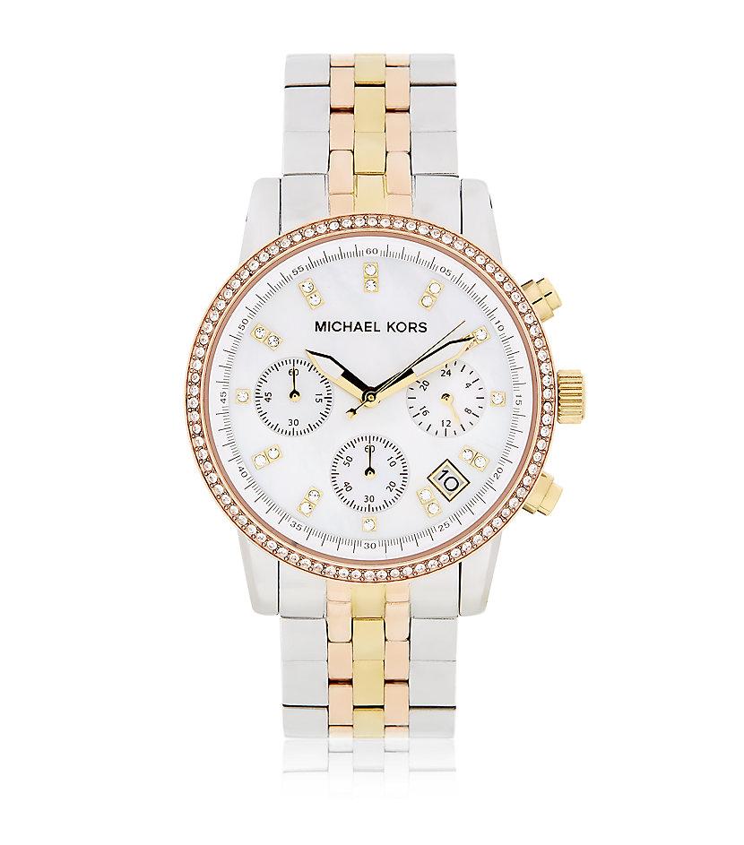 Michael Kors Ritz Chronograph Tricolour Watch