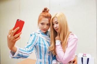shirt blue shirt striped shirt irene kim kpop