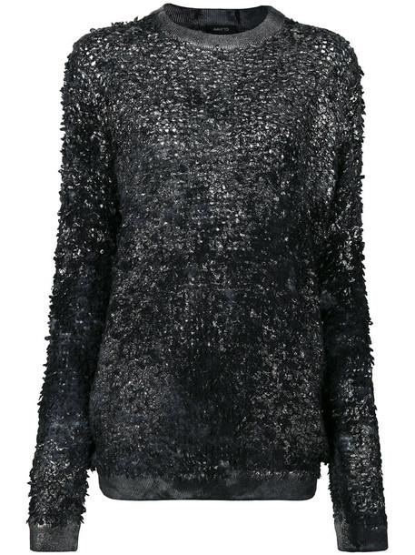 Avant Toi - high shine detail top - women - Silk/Cashmere/Virgin Wool - S, Black, Silk/Cashmere/Virgin Wool