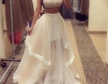 Custom made two pieces prom dresses..