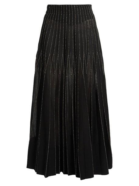 Alexander Mcqueen skirt midi skirt pleated midi gold black