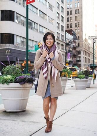 skirttherules blogger coat dress scarf bag jewels shoes