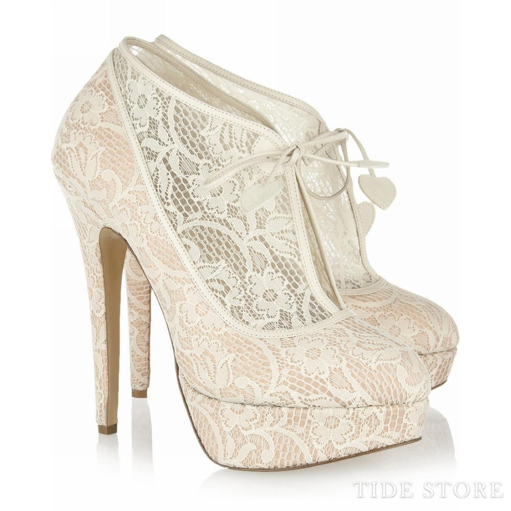 Sexy Lace Upper Platform Stiletto Heels Prom/Evening Shoes: tidestore.com